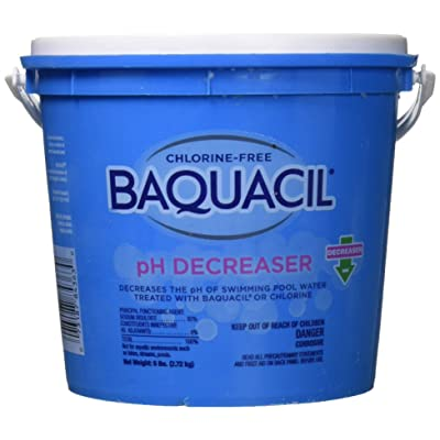 Baquacil 84363 pH Decreaser Swimming Pool Balancer, 6 lbs, Clear : Swimming Pool Ph Balancers : Garden & Outdoor