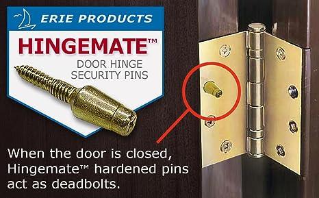 HINGEMATETM DOOR SECURITY PINS 3 PACK KIT Amazoncom