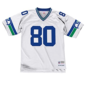 online store 1934c 577b9 Mitchell & Ness Steve Largent Seattle Seahawks White Throwback Jersey