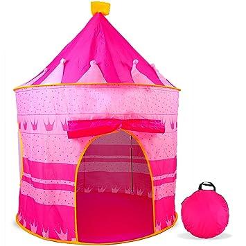 aGreatLife® Tienda de Juegos En Forma De Castillo Rosado - Tienda De Campaña para El Interior O El Exterior para Princesitas: Amazon.es: Juguetes y juegos