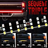 "MIHAZ LED Tailgate Light Bar - 48"" Triple Row 5-Function Strip Light Running, Brake, Sequential Amber Turn Signal…"