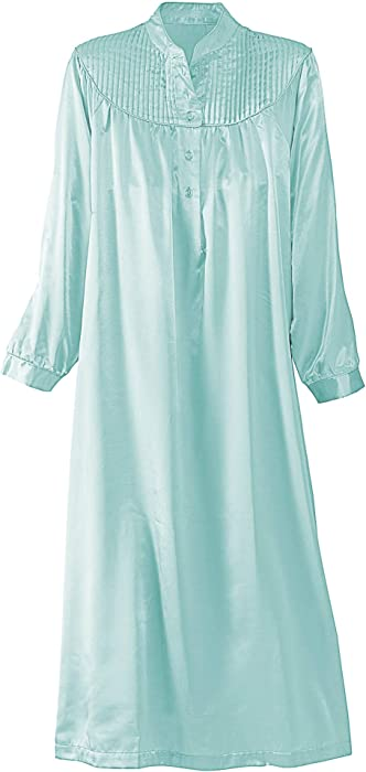 d8fa876251 National Brushed Back Satin Nightgown