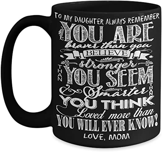 Son Mug Gift Love Mom Braver Stronger Coffee Cup Present From Mother