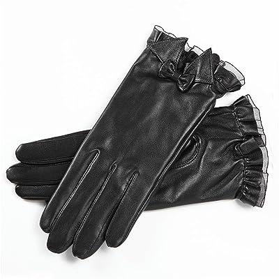 SALY Mme gants en dentelle arc en peau de mouton touchent les modèles d'écran , 2.5*2.5m , [touch screen] black silk