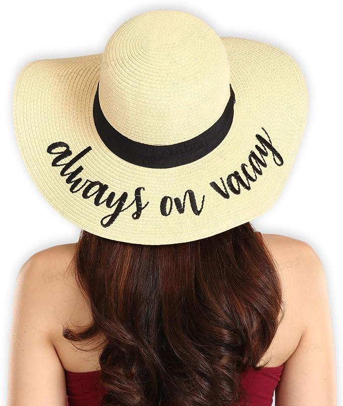 Straw Bucket Novelty Sun Hat  Tiki Summer Cruise Vacation Resort Tropical Gardening