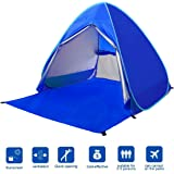 BATTOP Automatic Pop Up Beach Tent Sun Shelter Cabana 2-3 Person UV Protection Beach Shade for Outdoor Activities