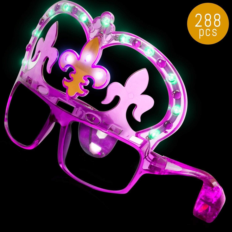 LED Light Up Mardi Gras Masquerade Mask Glasses