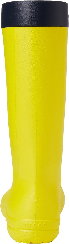 Crocs FsailRainBootW, Sneaker a Collo Alto Donna Verde Lemon