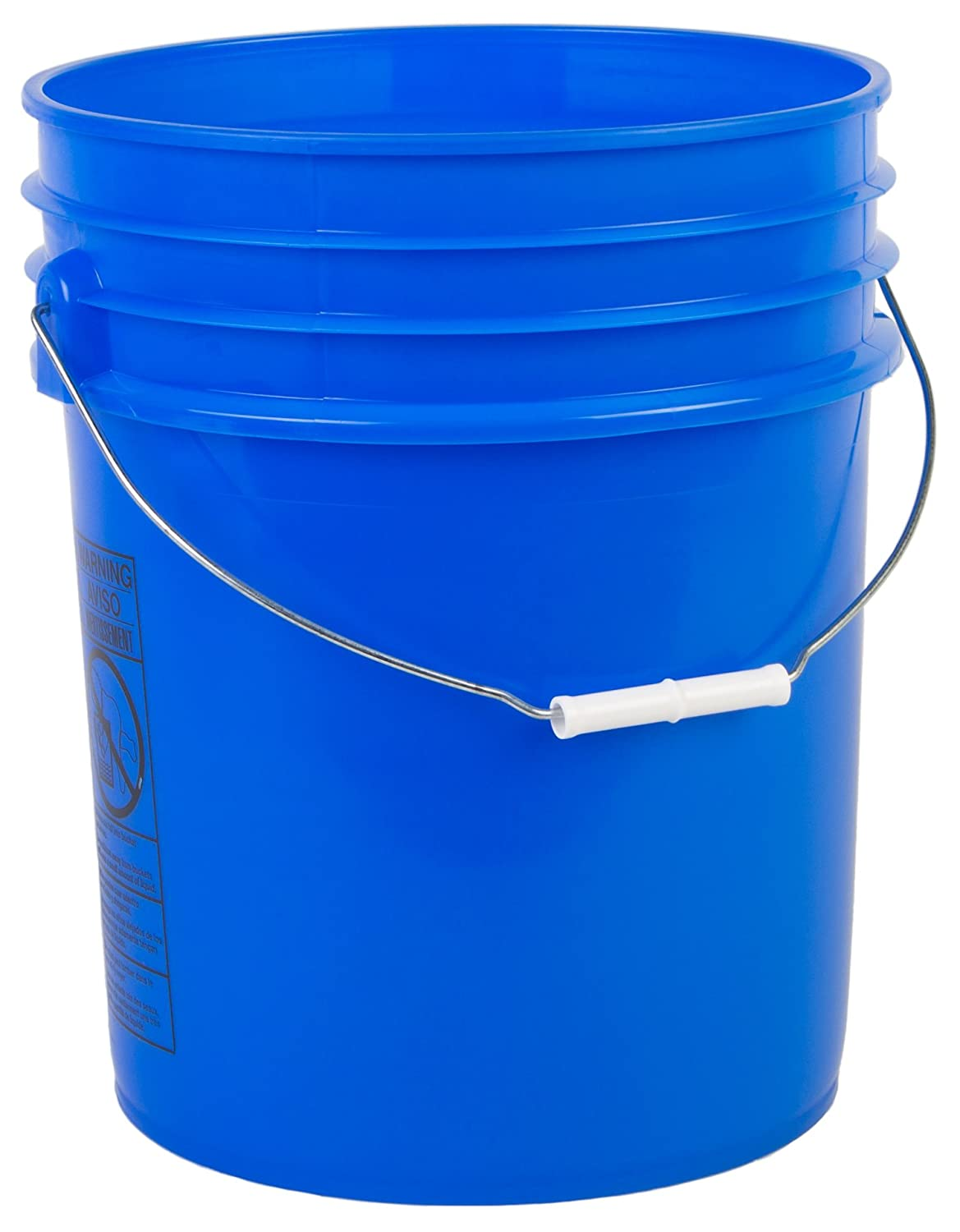 Hudson Exchange Premium 5 Gallon Bucket, HDPE, Blue