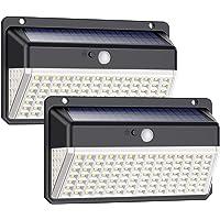 Luz Solar Exterior 118 LED, Trswyop【Versión Impermeable 2 Unidades】Foco Solar Exterior con Sensor de Movimiento Gran…