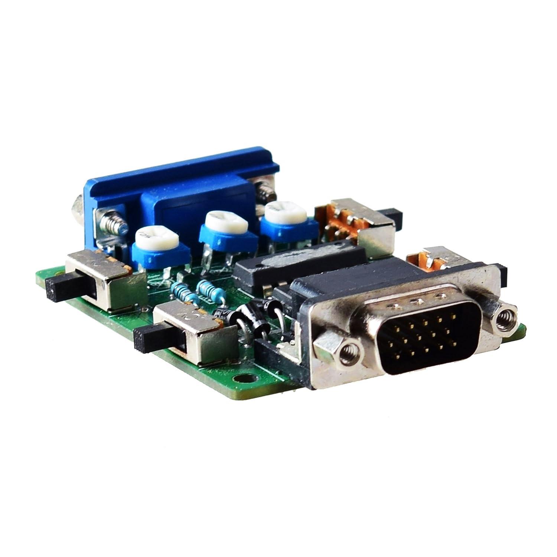 Mcbazel Línea de escaneo Generador de efectos de video Generador de escaneo Conexión VGA para todos los juegos retros / Jugadores / Mame / Arcade / ...
