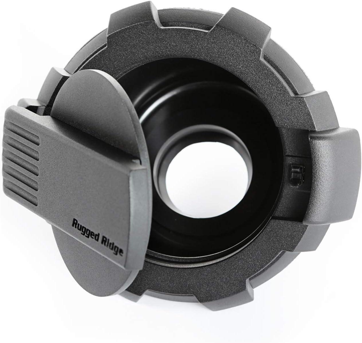 Non-Lock, 07-18 JK Rugged Ridge 11425.12 Black Elite Fuel Door