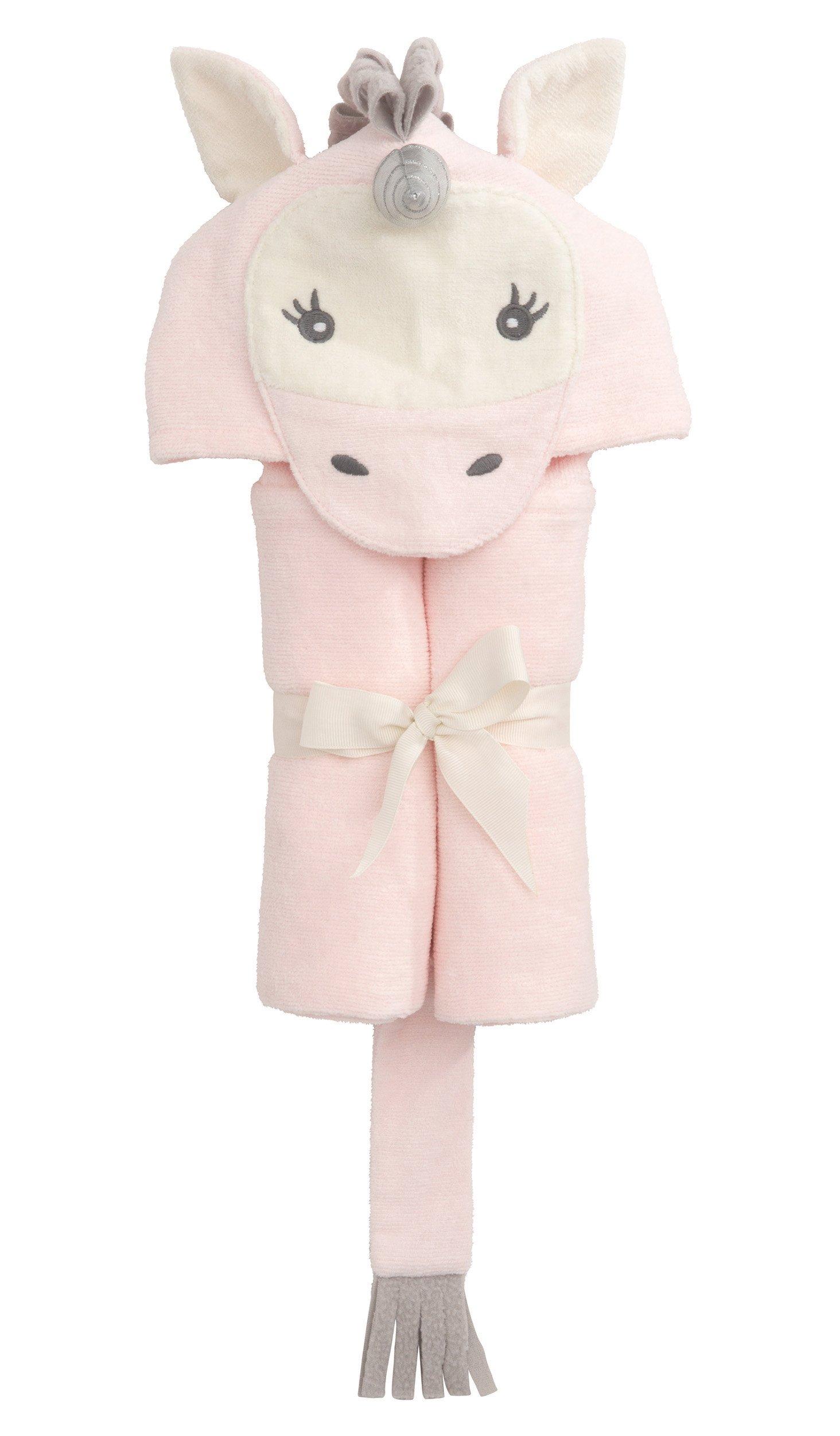 Elegant Baby Top Selling  Bath Gift - Cotton Hooded Towel Wrap, Cute Pink Unicorn by Elegant Baby