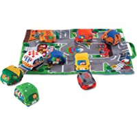 Melissa & Doug Take-Along Town Play Mat (48.90 x 36.20 cm) With 9 Soft Vehicles