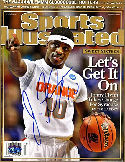 Jonny Flynn Signed Full Sports Illustrated Magazine Syracuse