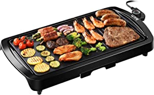 IKICH Electric Griddle Grill, 2-in-1 Nonstick Griddle Pan, 19 x 2 x 11inches