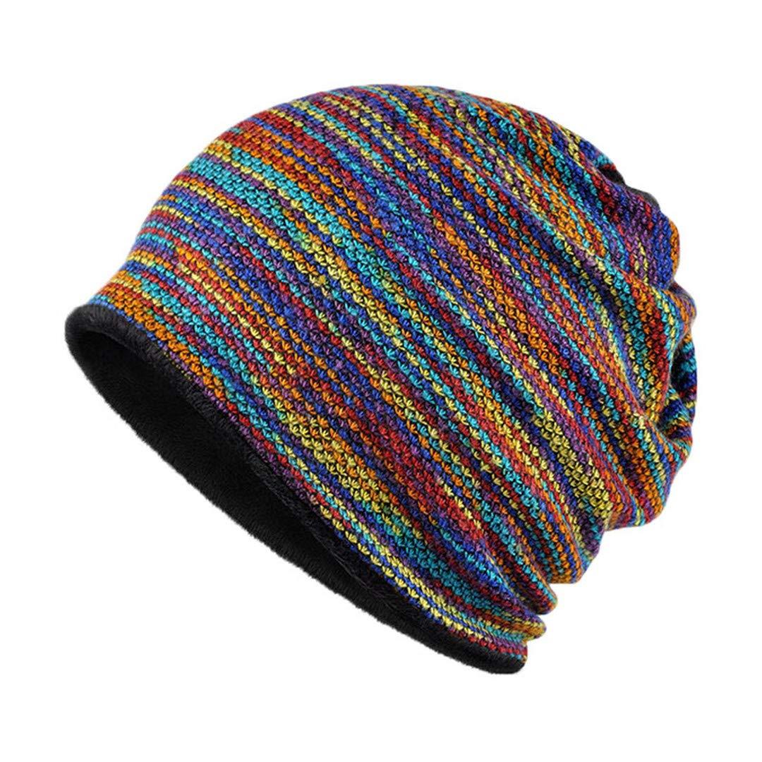 Winter Beanies Collar Scarf Women Or Men'S Hip Hop Hats Warm With Velvet Inside