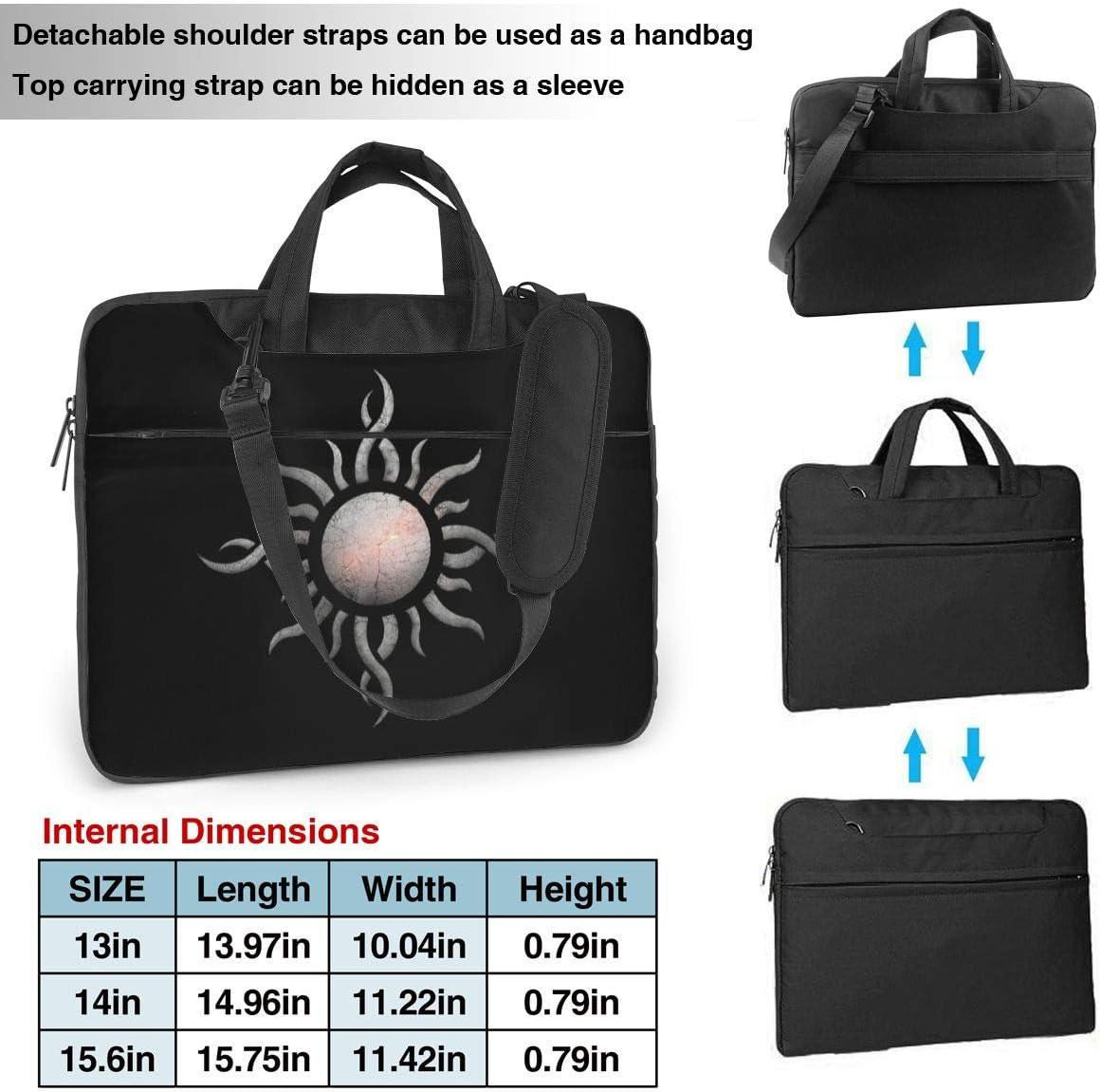 JuaoHuan Godsmack Laptop Shoulder Messenger Bag Case Briefcase Sleeve for 13 Inch 14 Inch 15.6 Inch Laptop Case 14 Inch