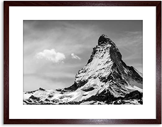 MATTERHORN ALPS MOUNTAIN BLACK WHITE Poster Canvas art Prints