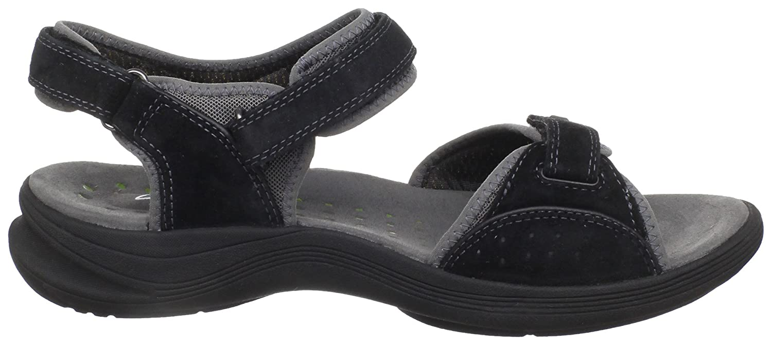 Clarks Women's Wave.Whisk Sandal, Black Suede, 8.5 M US: Buy Online at Low  Prices in India - Amazon.in