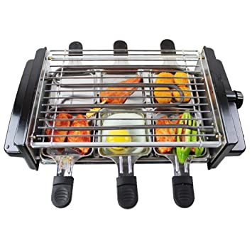 hiiy 1200 W sin humo Interior eléctrica barbacoa/barbacoa eléctrica parrilla/220 V/