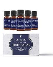 Juego de aceites aromáticos de Mystic Moments, ensalada de frutas,5unidades 10ml, 100% puros