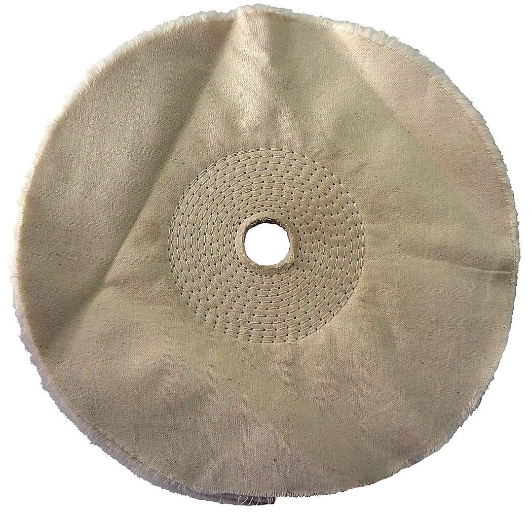 Dayton Buffing Wheel, Spiral Sewn, 10 In Dia. - 6A827 (Pack of 2)