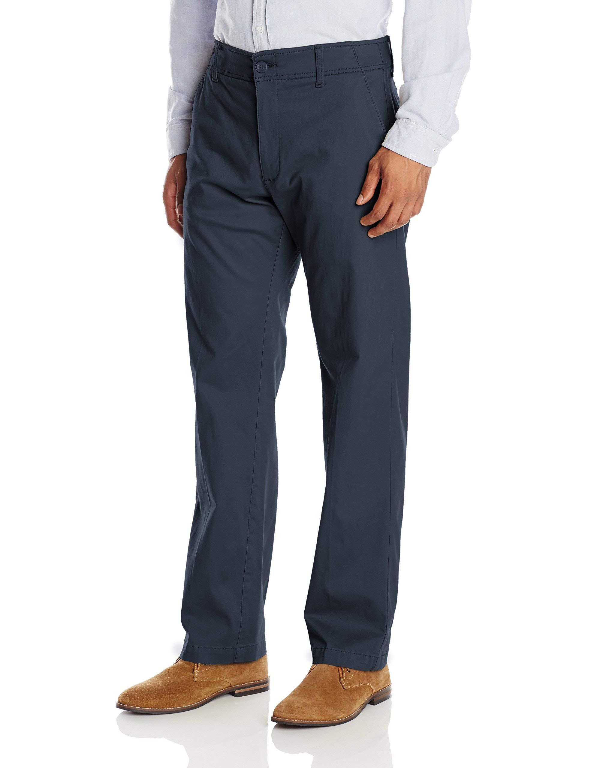 LEE Men's Big & Tall Performance Series Extreme Comfort Pant, Navy, 48W x 30L