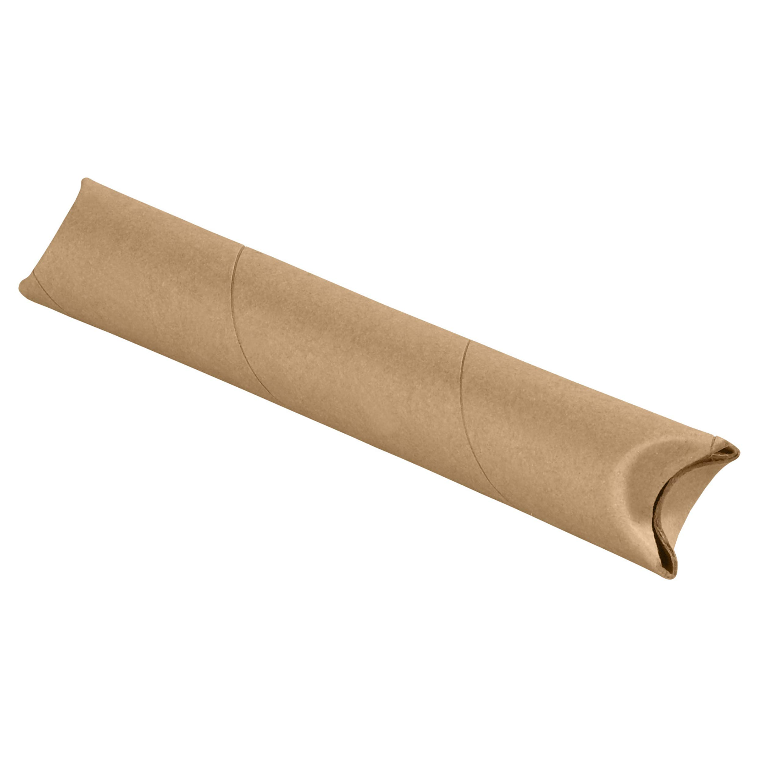 Crimped End Mailing Tubes, 1-1/2'' x 12'', Kraft, 70/Case by Great Box Supply