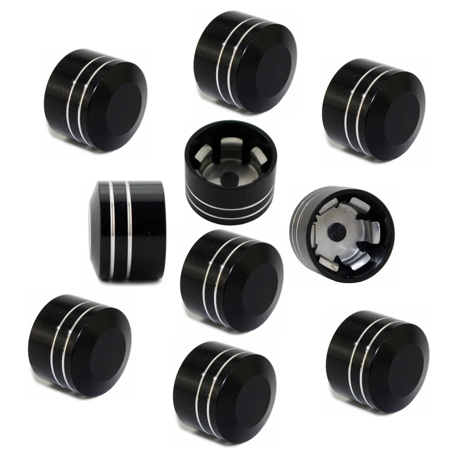 Pack of 10 Motorcycle Bolt Schrauben Topper Cover Caps CNC 11.5mm 7//16 For Twin Cam Dyna Softail Touring Road King Electra Glide XL