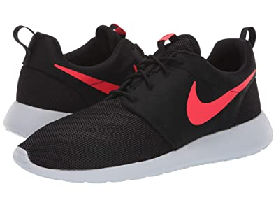 406f3b6db6231 Nike Mens Roshe One Running Shoes Black Solar Red Pure Platinum 511881-039
