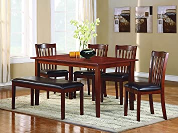 Amazoncom Schaffer  PC Dining Table Set With Bench By Home - Espresso kitchen table set