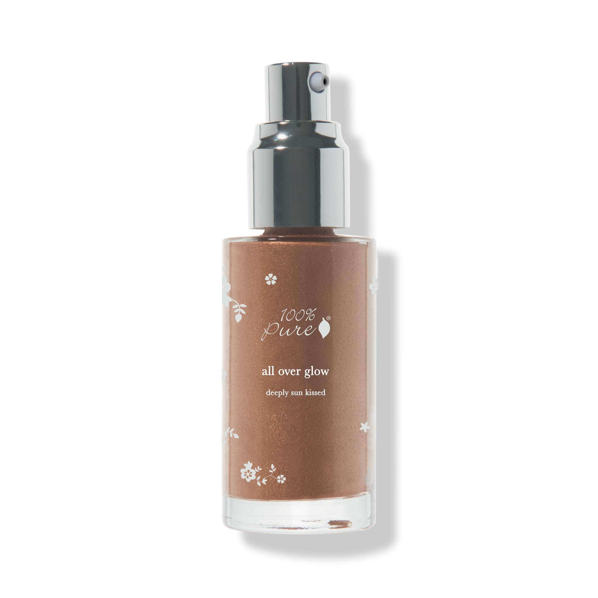 100% PURE All Over Glow Bronzer, Deeply Sunkissed, Liquid Bronzer for Glowing Skin, Contour Makeup, Illuminating Makeup for Face and Body (For Medium-Deep Toned Skin) - 1.35 Fl Oz by 100% PURE (Image #1)