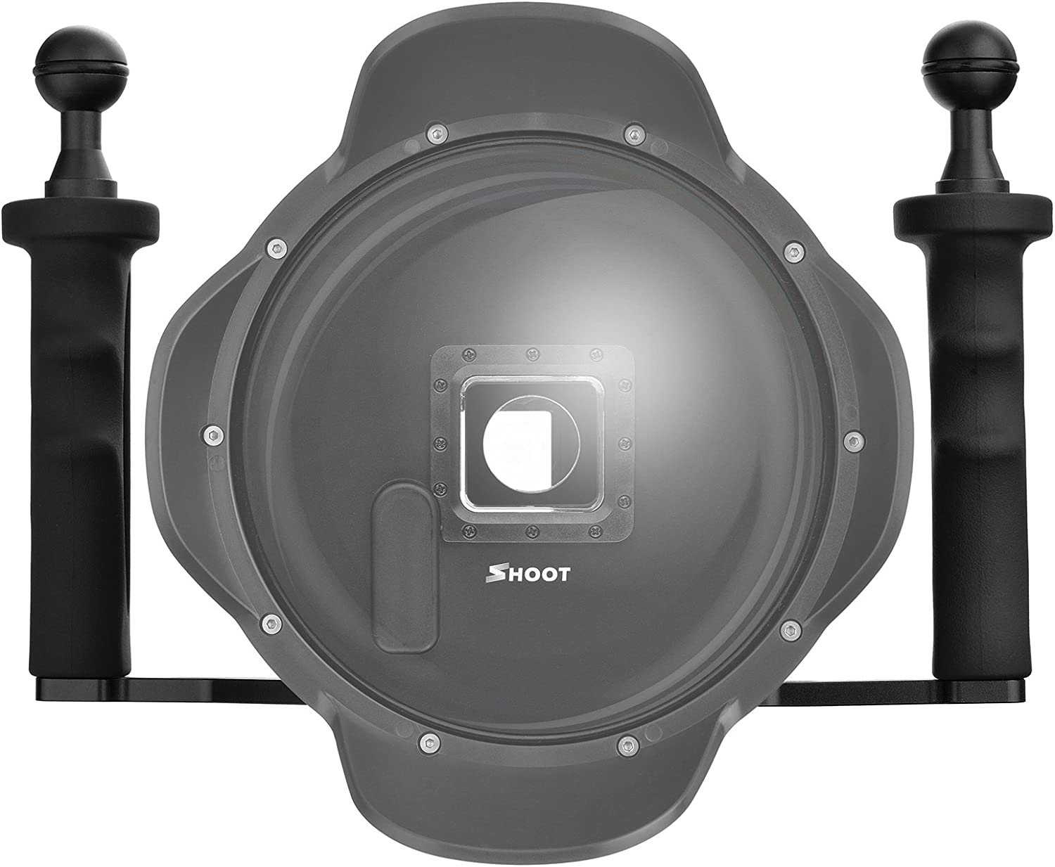 Simple Use with Trigger,10X Macro Filter,Red Filter for 50//50 Amazing Above and Under Water Shooting 6th Gen SHOOT Dome Port for GoPro HERO7 Black//6//5//HERO2018