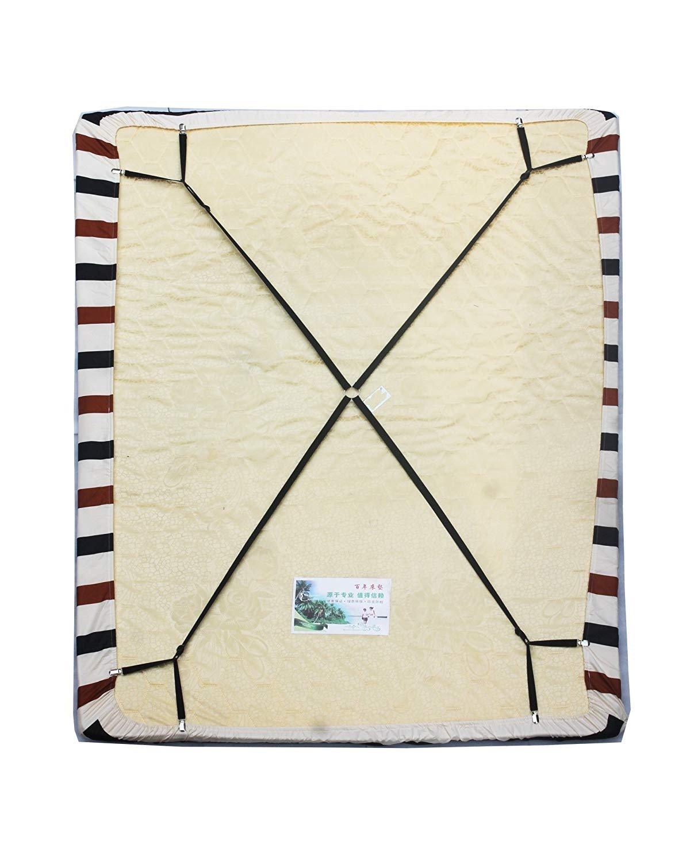 Crisscross - Tirantes ajustables para sábanas y sábanas con tirantes para cama – Mantén tu sábana en su lugar. Gira la imagen para ampliar la imagen en Crisscross con correas ajustables para sábanas, sábanas y colgadores, soporte para sábanas MINISTAR