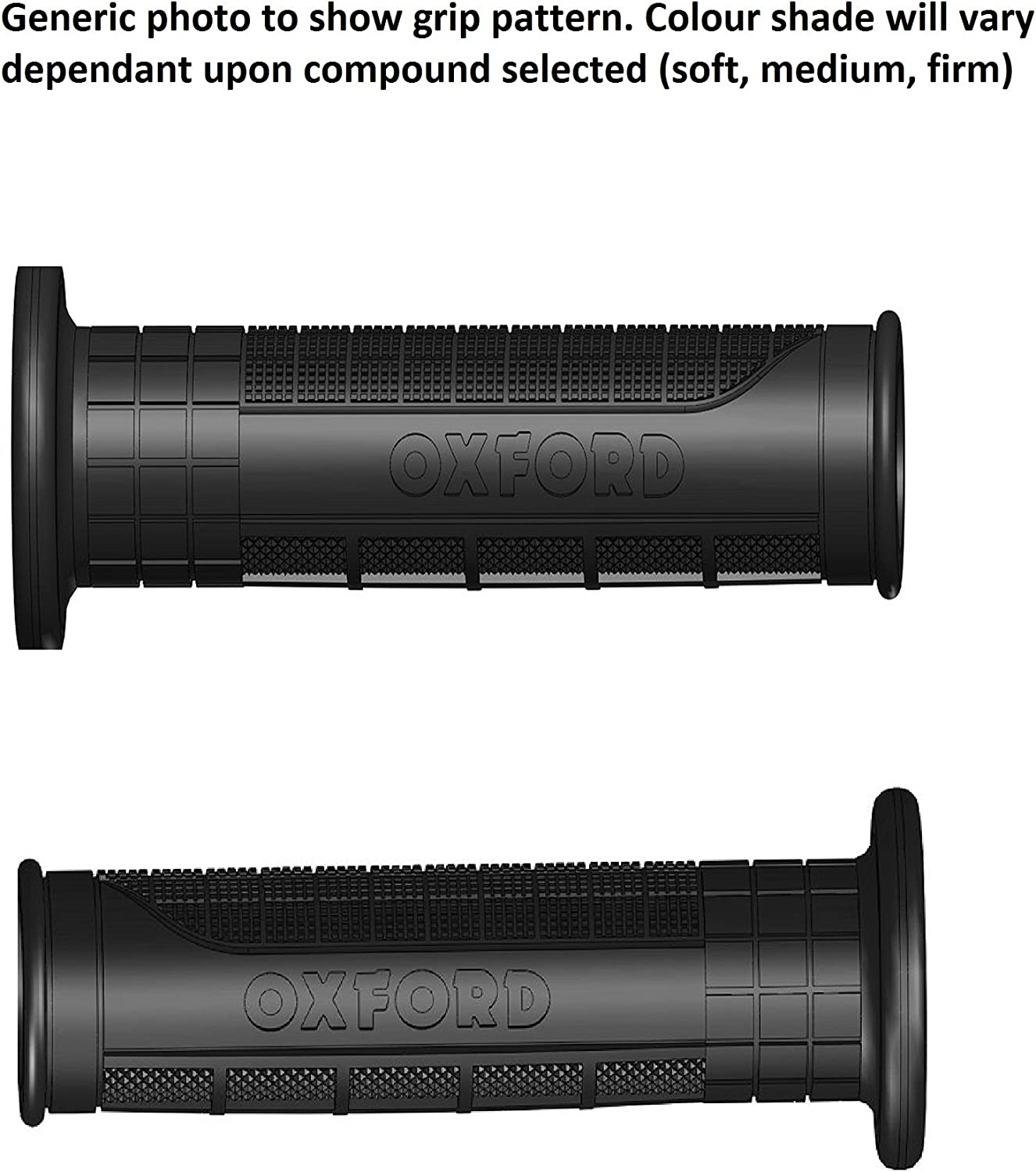 OXFORD PAIR OF ADVENTURE MOTORCYCLE HANDLEBAR GRIPS LIGHT GREY SOFT