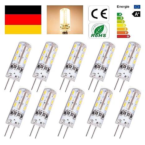 Topgoods Bombillas LED G4 de 1.5W equivalentes a Lámparas halógenas de 15W DC12V ,No