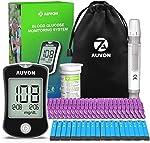 AUVON DS-W Blood Sugar Kit (No Coding Required), High-Tech Diabetes Blood