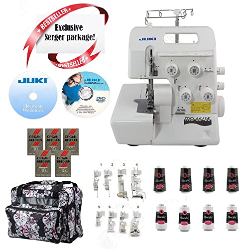 Best Serger Package: Juki Pearl Line MO-654DE with Bonus package