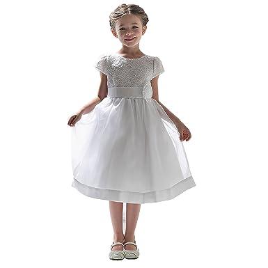 d53ffd83074 Princesa Robe première Communion Fille blanc10 Ans - Robe Communion  Confirmation Mariage Demoiselle d honneur