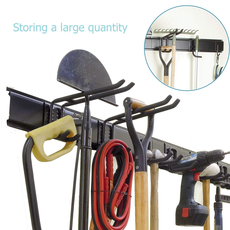 Ultrawall 8PC Garage Organizer, Garage Storage System With Hooks, Tool Organizer Holder Hanger TNDK29S12