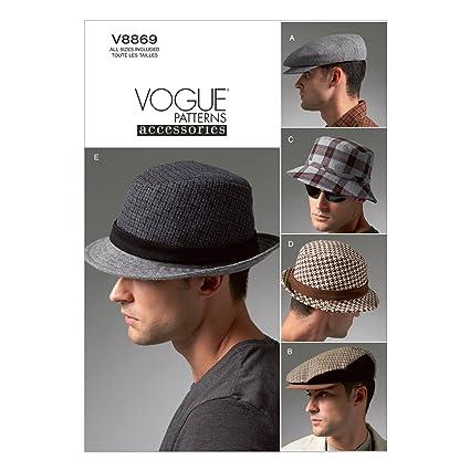 0667da1a6d Amazon.com: Vogue Patterns V8869 Men's Hats Sewing Template: Arts, Crafts &  Sewing