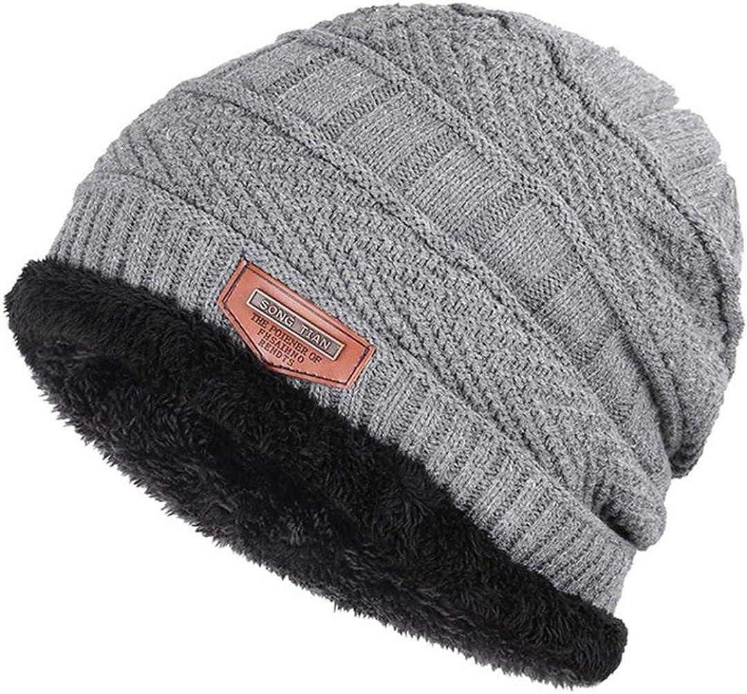 Winter Beanies for Men Knit Beanie Hat Scarf Plus Velvet Thicken Winter Hats Woman Warm Soft Cap Skullies