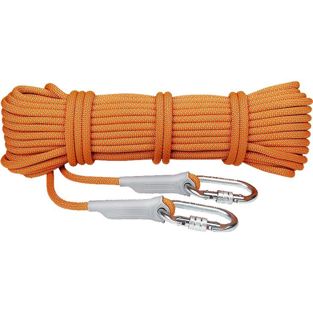 SCJ Corde d'escalade, 10m, 20m, 30m, 40m, 50m, Corde d'escalade 25KN, diamètre 10.5mm Plein air Explorez la Corde de Sauvetage Escape, Corde de sécurité Haute résistance avec Cordon (Taille  10m 30m