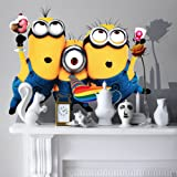Extra large 3 Minions Removable Stickers Wall Decal Kids Room Baby Child Room