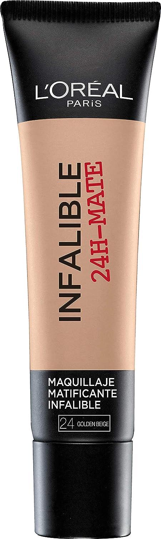 L'Oréal Paris Infaillible 24HMat Fondotinta Coprente, Lunga Tenuta, Opacizza senza Appesantire, 30 Miel 45267