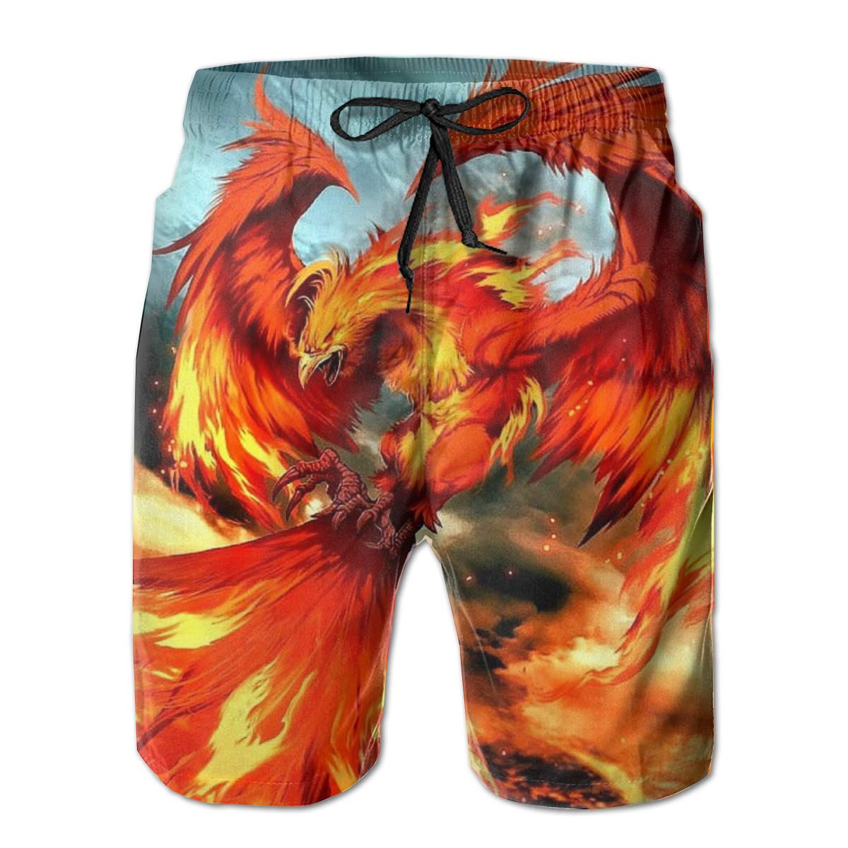 Suitable for Surfing Swimming and Other Marine Sports Beach Shorts Phoenix Fire Mens Swimming Pants