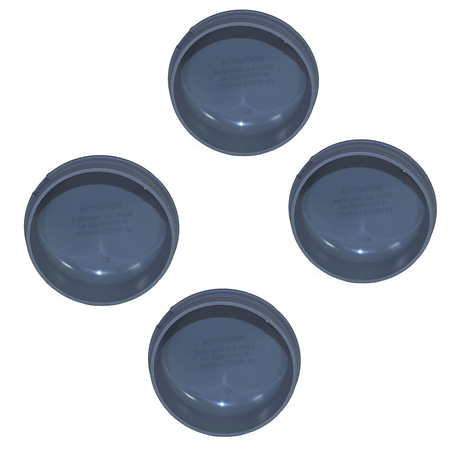 AB Tools 4 x Grey Plastic Hub Cap Grease Dust Bearing Cap 76mm For Ifor Williams Trailers