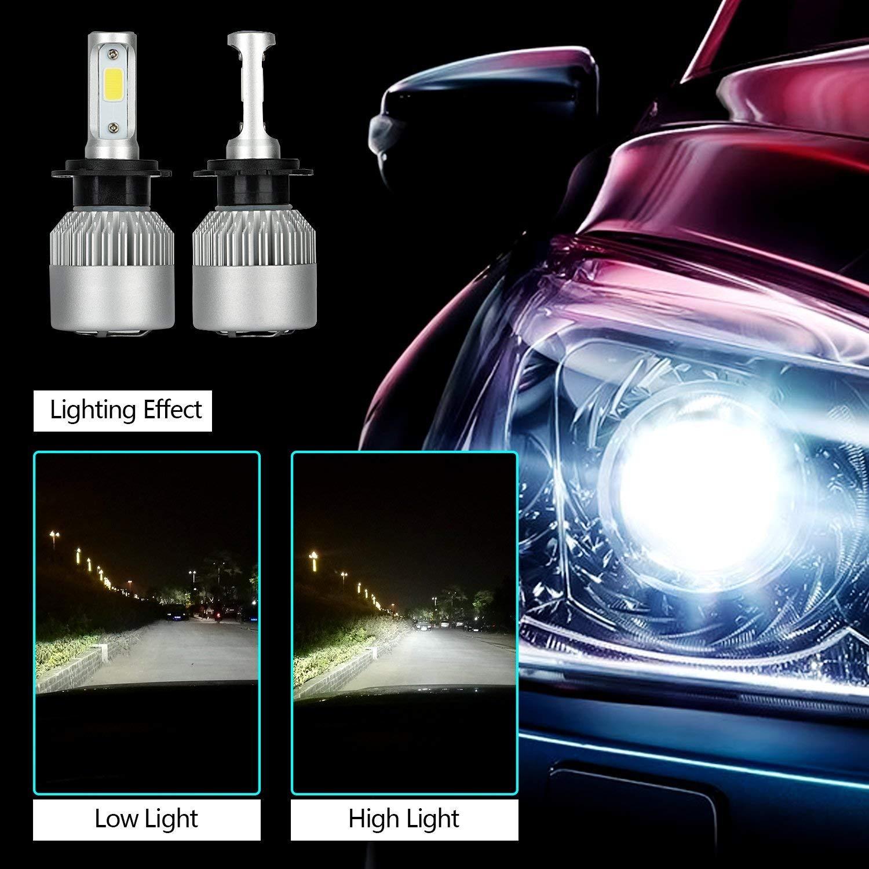 Bombillas Coche LED H7 Bulb 6500 K 8000Lm 72 W H/L bombillas ...