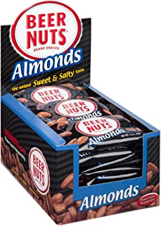 product image for BEER NUTS Almonds - 24-Count 1oz Single Serve Bags, Low Sodium, Gluten Free Almonds